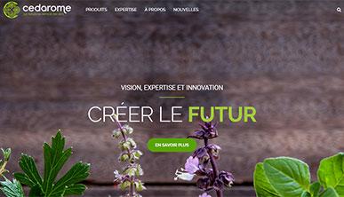 Nouveau site web pour Cedarome Canada inc.