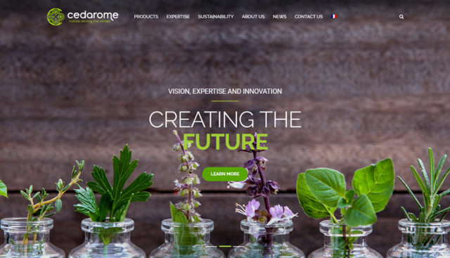 New website for Cedarome Canada inc.