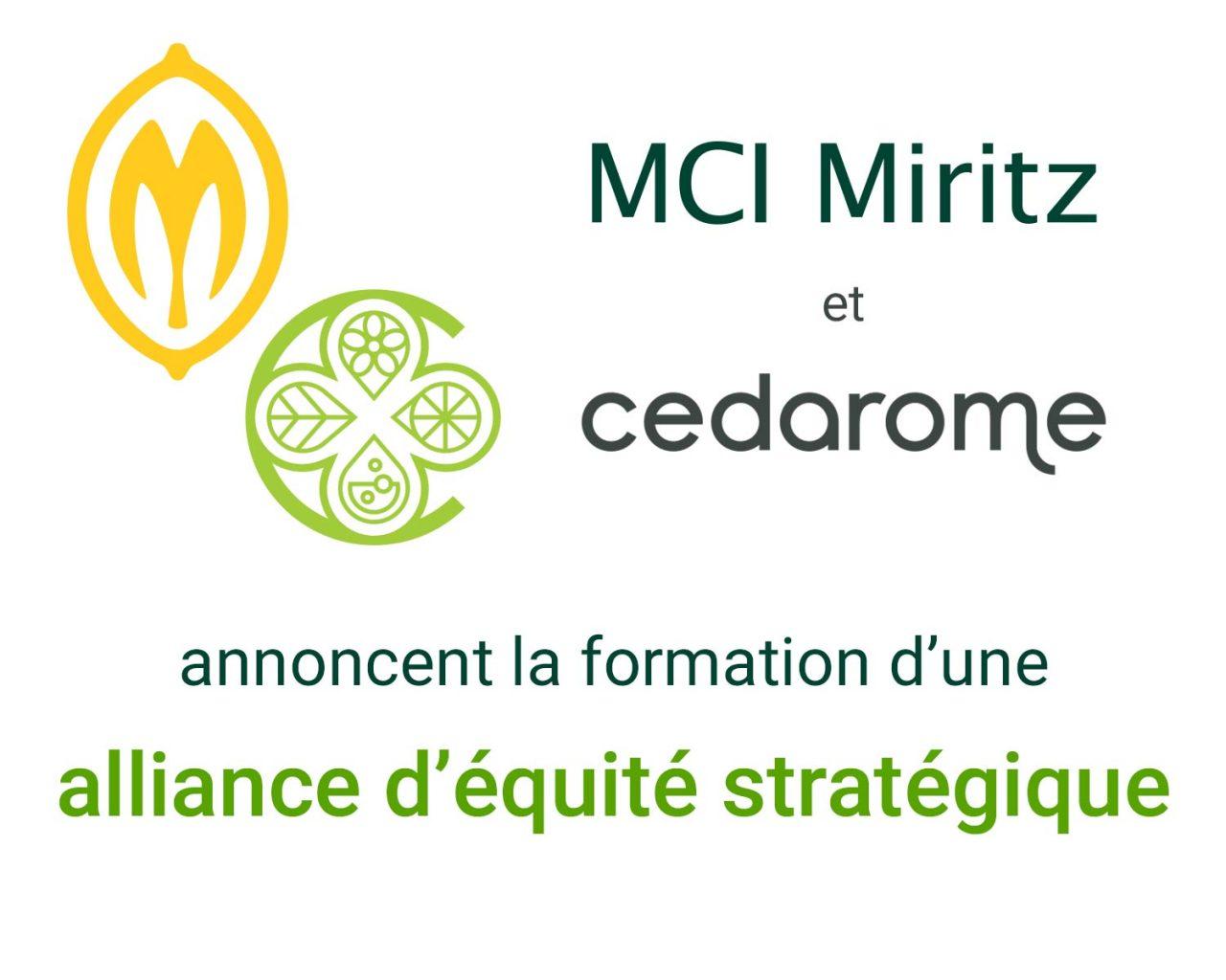 MCI Cedarome alliance equite strategique_p