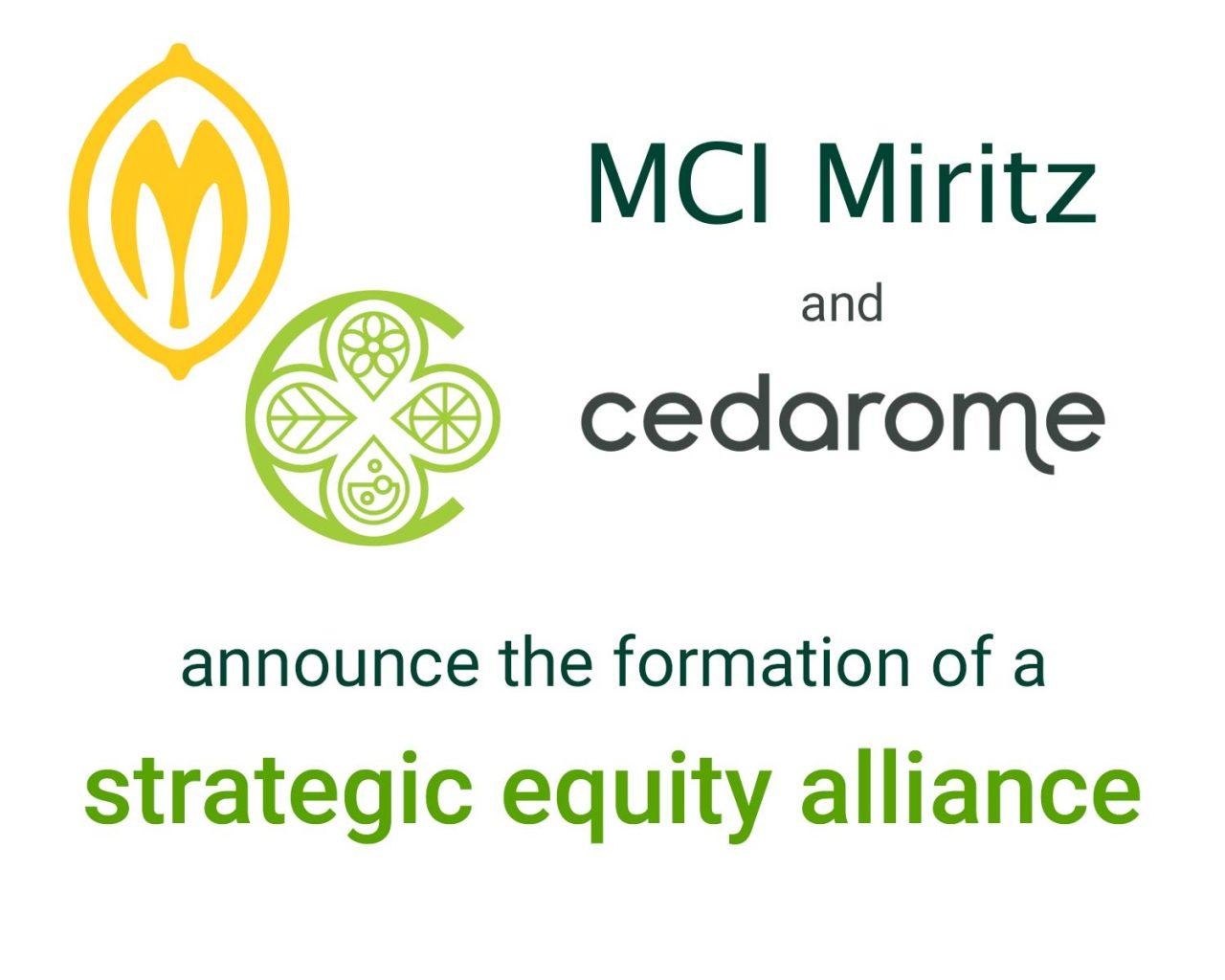 MCI Cedarome strategic equity alliance